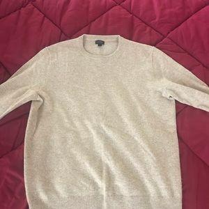 J.Crew 100% cashmere sweater beige heather